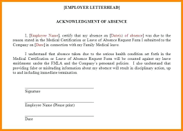 Sample Leave Of Absence Letter To Employee New Samples Of