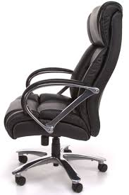 side big and tall black leather office chair with steel leg wheels arms and 500lbs ideas