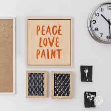 artistic wall art painted with typography letter stencils peace love paint lettering stencils royal  on wall art letter stencils with peace love paint lettering stencils diy wall quotes royal design