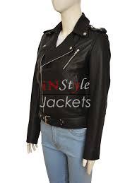 black colored leather jacket worn by kim kardashian