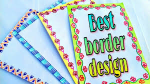 Border Design For Project How To Decorate Project School Project Making Decoration Of Chart Paper