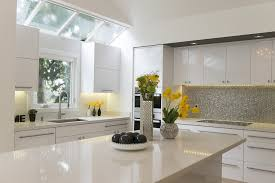 white modern kitchen. Modern White Kitchen: Silverpennytile Kitchen