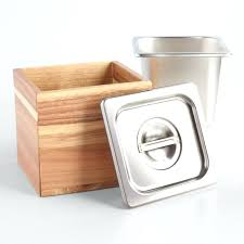 wood and stainless steel kitchen compost bin world market container ideas compost container kitchen craft bin