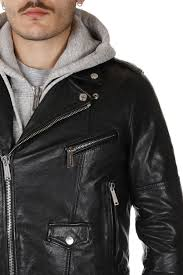 dsquared mens leather jacket motorcycle