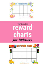 Sticker Charts For Preschoolers Printable Reward Charts My Bored Toddler