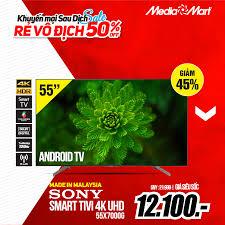 ✨Smart Tivi 4K Ultra HD Sony 55 inch... - Điện Máy MediaMart 66 Ngô Quyền -  TP Lạng Sơn