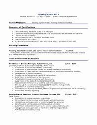Sample Skills For Resume New Cna Resume Objective Examples Resume Cv
