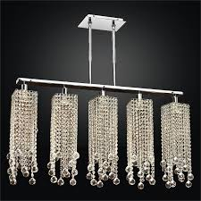 contemporary rectangular crystal chandelier chelsea 645fm5lsp 7