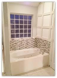 Bathroom Tub Glass Tile Backsplash Master Bathroom Update  How - Tile backsplash in bathroom