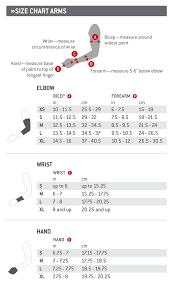G Form Arm Size Chart Sports Armour Nz