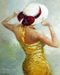 d virbickiene art reion modern oil painting on canvas lady