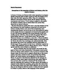 comparison of the speeches of brutus and antony after the death page 1 zoom in