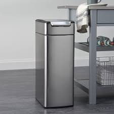 stainless garbage cans kitchen amazing cute 0 simplehuman steel semi round regarding 10