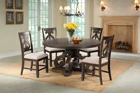 stone round table dining room media image 1