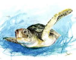 turtle watercolor print turtle painting sea life print turtle wall decor sea turtle wall art marine art turtle gift turtle print on turtle wall art painting with sea turtle painting green sea turtle art print watercolor