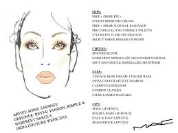 Mac Reynu Face Chart The Bombay Brunette