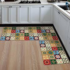 2pcs set absorbent kitchen floor mat non slip entrance doormat washable area rug and