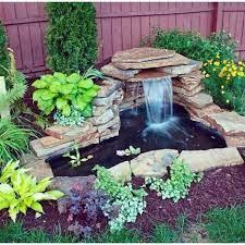 diy garden pond waterfall ideas