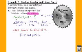 pc 4 1 notes example 7 finding linear and angular sd