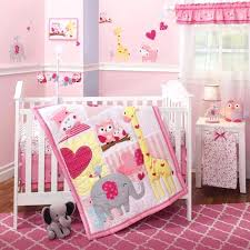 giraffe bedding set little crib jungle animals owls elephant baby girls nursery 3