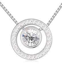 round crystal from swarovski pendant necklaces for women