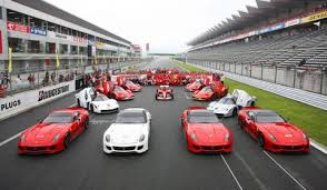 ferrari cars line up