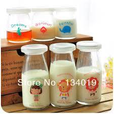 super cute little animals glass milk bottles lids pudding mold