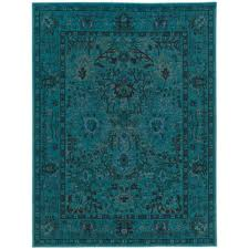 Teal Living Room Rug Teal Rugs Flooring The Home Depot