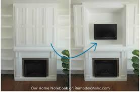 tv above fireplace memorable decorating ideas 3