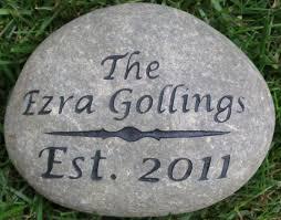 engraved garden stones. Engraved Address Marker Garden Stone 7-8 Inch Or Oathing Wedding Unique Stones