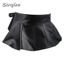 top female retro bow tie belts for women decorative corset belt 2019 new leather skirt style las wide belt womens girdle a006 belt length 66cm