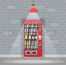 Water Bottle Vending Machine Gorgeous Automatic Vending Machine With Food And Drinks Bottles And Cans
