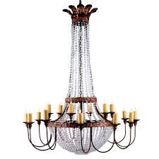 iron crystal chandelier
