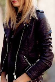 zara tuula vintage is wearing a biker leather jacket from river island