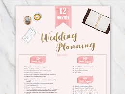 Printable Wedding Planner Wedding Planning Checklist Printable Pdf And Excel Free