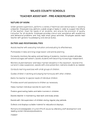 Pre K Teacher Assistant Resume Sidemcicek Com Profile Inspiration