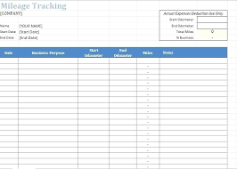Expense Journal Template Printable Mileage Log Personal Margines Info