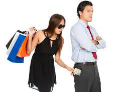 ways you make yourself undatable r ce goals a greedy w shopaholic department store shopping bags secretly removing money unnoticed from her pushover
