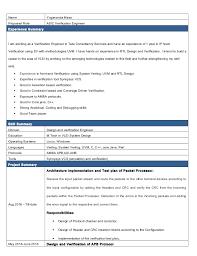 Asic Verification Engineer Sample Resume 13 Professional Vlsi Design