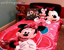 Mickey And Minnie Mouse Bedroom Decor Minnie Mouse Bedroom Reveal Spoonful Of Imagination