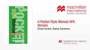 A Pocket Style Manual Apa Version Diana Hackernancy Sommers