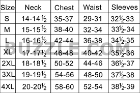 Neck Size Chart Dress Shirt Complete Mens Shirt Size Chart And Sizing Guide All Guys