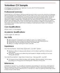 Ymca Volunteer Sample Resume