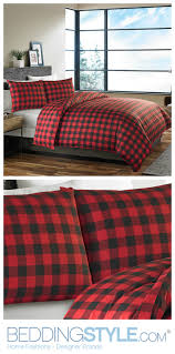 ed bauer mountain plaid scarlet comforter duvet set winterbedroom beddingstyle plaid