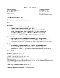 Computer Science Resume Simple Computer Science Resume Eric Granlund
