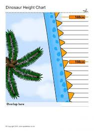 Sparklebox Height Chart Dinosaur Childrens Height Chart Fixed Height Sb11785