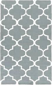 grey and white area rug gray geometric trellis modern artistic weavers cobalt blue tan