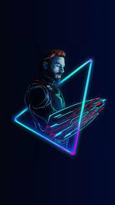 Neon art of captain America in avengers ...