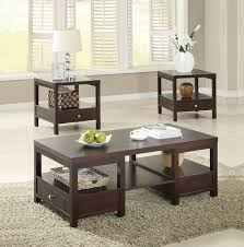 ... Sets Coffee Table, Coffee Table And End Contemporary Coffee Tables  Brooklyn Espresso 3 PC Coffee And ...