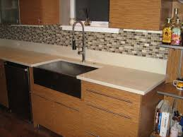 How To Do A Kitchen Backsplash Kitchen Design Chrome Pull Out Faucet Green Mosaic Ceramic Tile